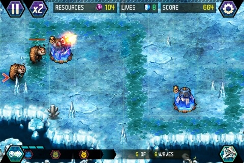 tower defense iphone walkthrough glacier
